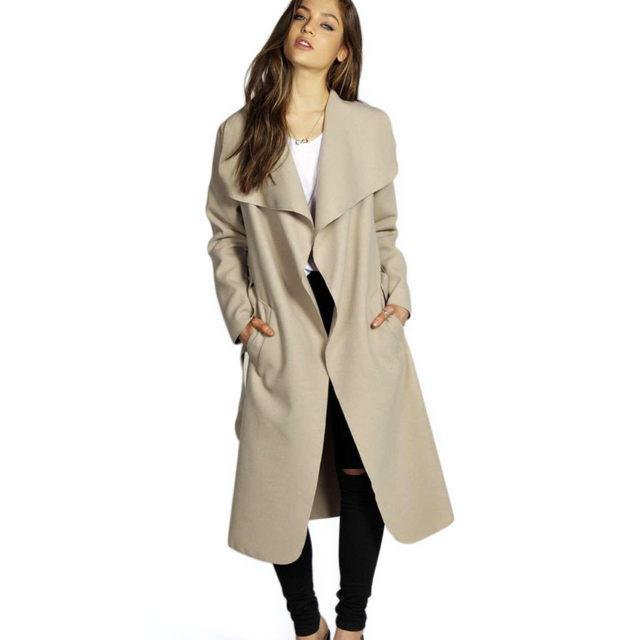 Women's Long Woolen Coat