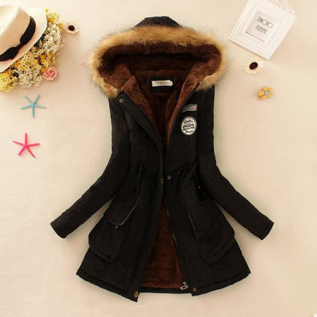 Women's Warm Fur Collar Parka