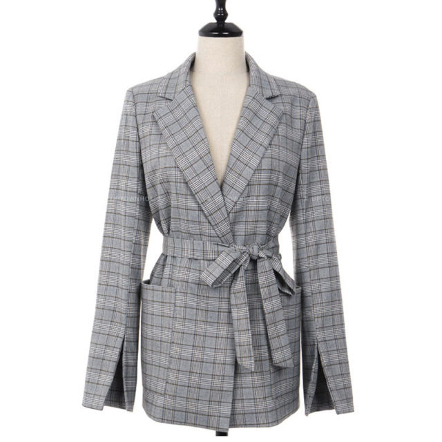 Women's Classic Checkered Office Jacket