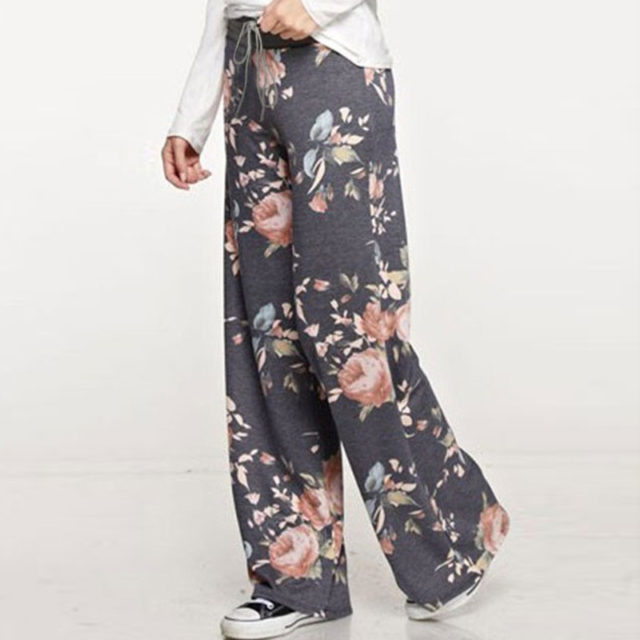 Women's Causal Floral Printed Pants