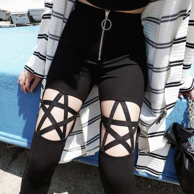 Women's Gothic Cut Out Leggings