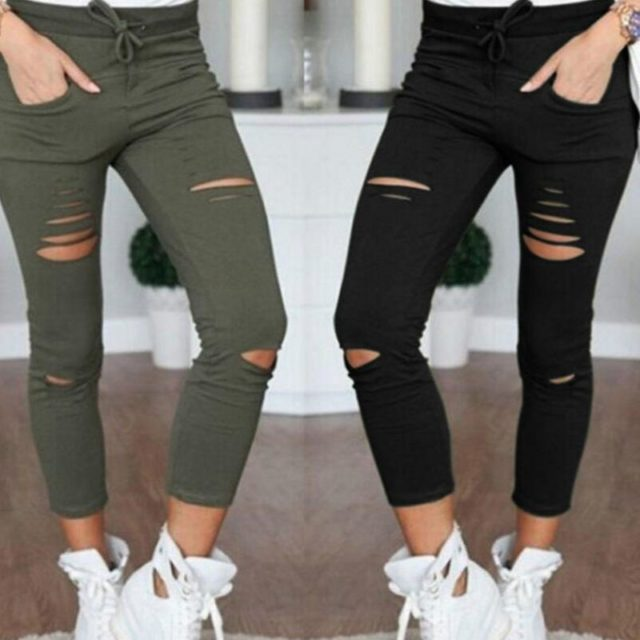 Women's Stretch Ripped Jeans