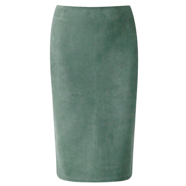 Women's High Waist Pencil Suede Skirt