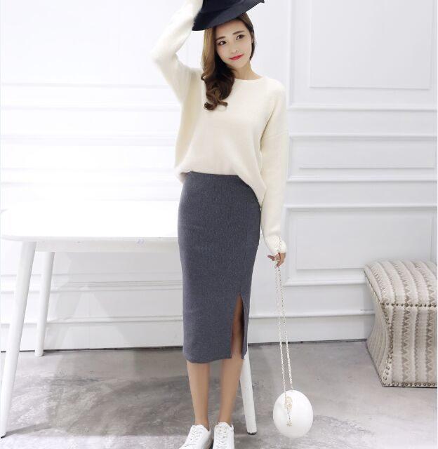Women's Classic Mid Pencil Skirt