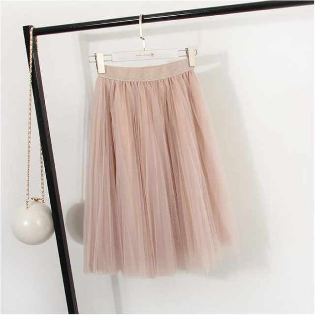 Women's Elastic Chiffon Skirt