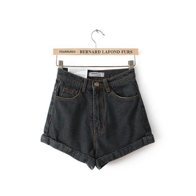 Women's Vintage High Waist Denim Shorts