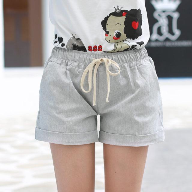 Cute Summer Casual Loose Cotton Women's Shorts