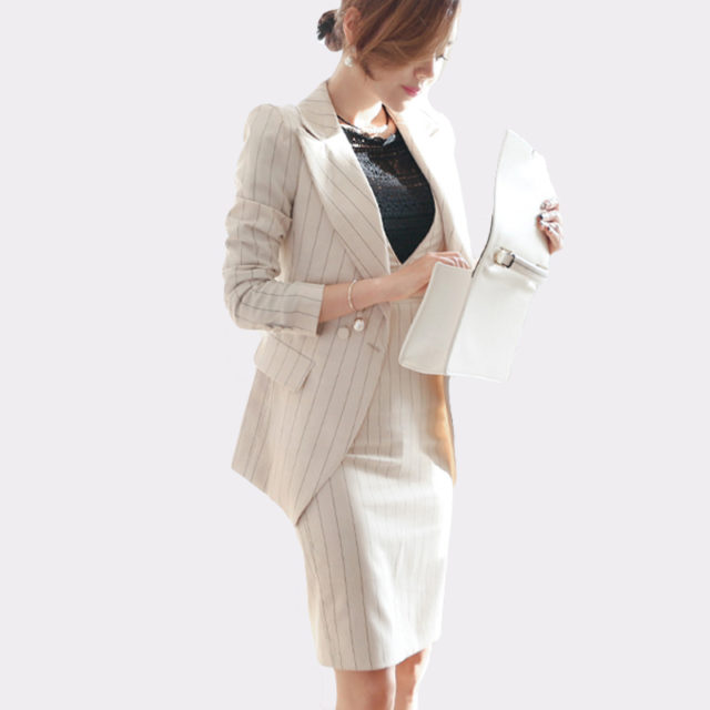 Women's Striped 2 Pieces Suit