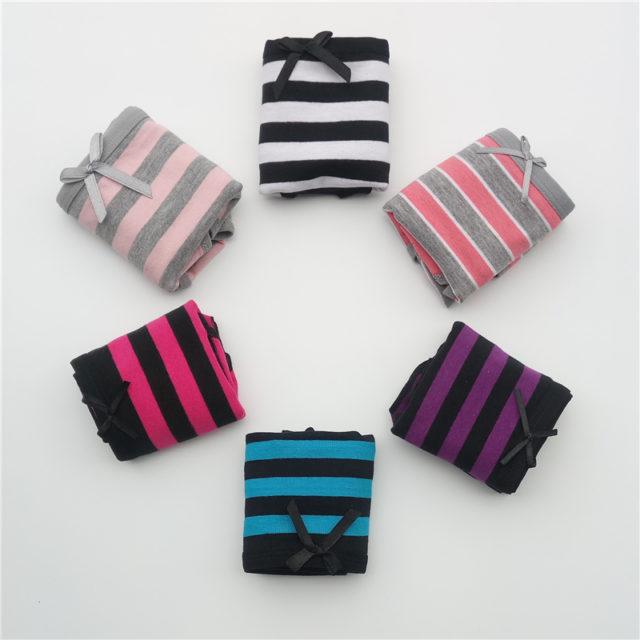 Women's Striped Cotton Panties Set