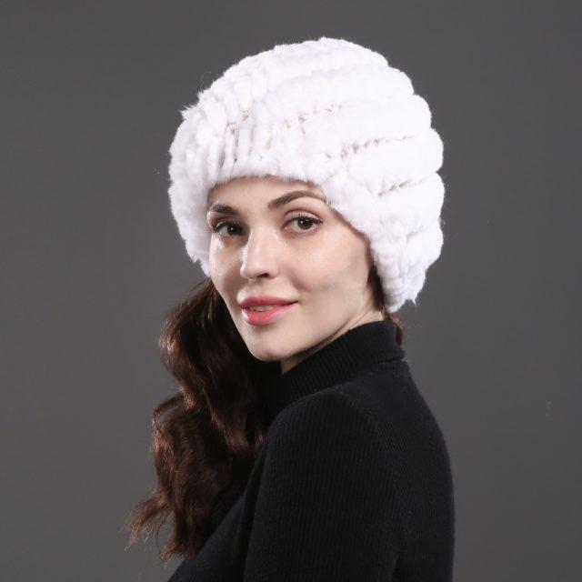 Women's Winter Rabbit Fur Hat