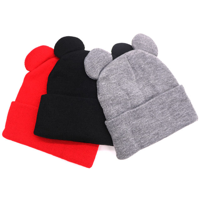 Women's Knitted Winter Hat with Ears