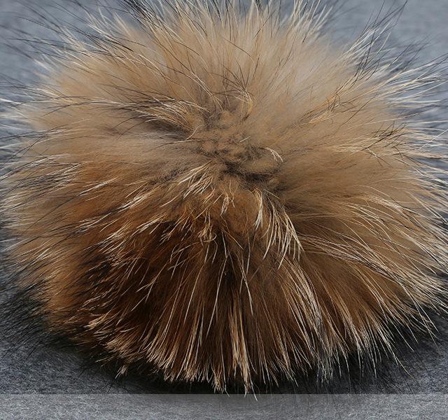 Winter Fur Pom Pom Knitted Hat for Women