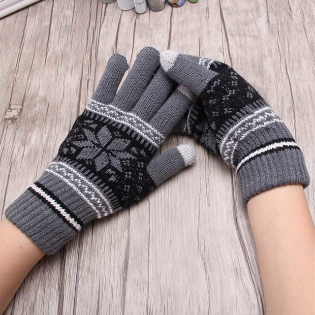 Warm Knitted Unisex Gloves