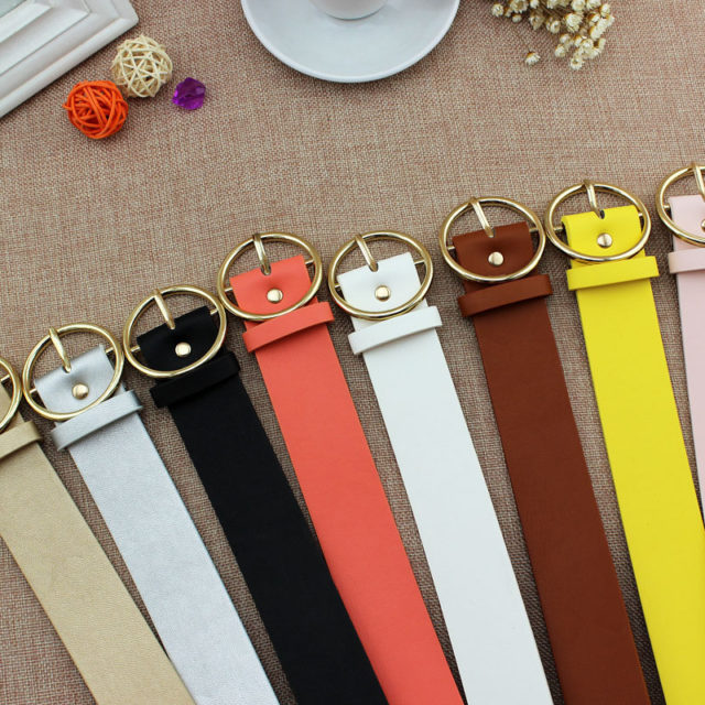 Fashion Classic Belt with Round Buckle