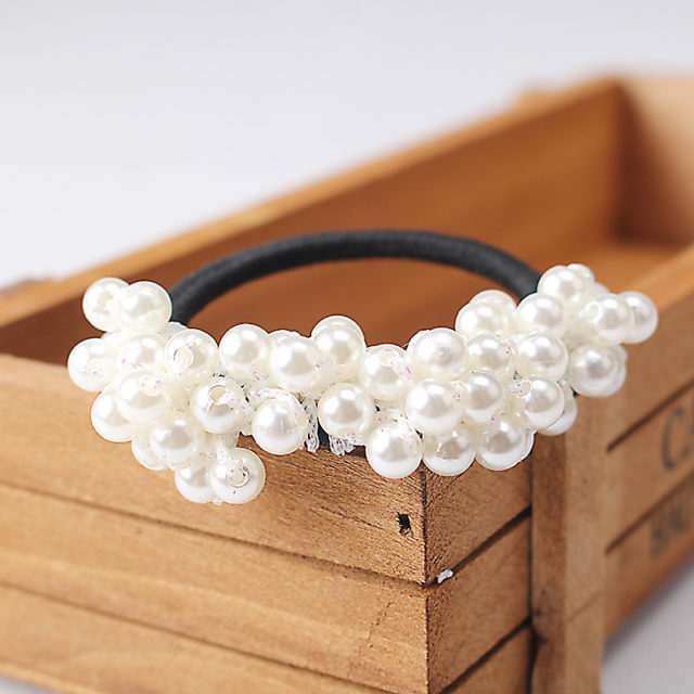 Vintage Elastic Pearls Hairbands for Women