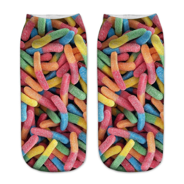 Women's Yummy Patterned Cotton Socks
