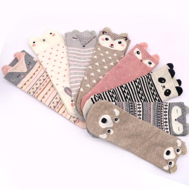 Women's Animal Printed Cotton Socks