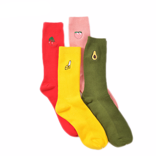 Women's Kawaii Fruit Printed Socks