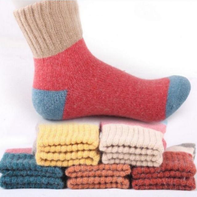 Warm Woolen Women's Socks Set