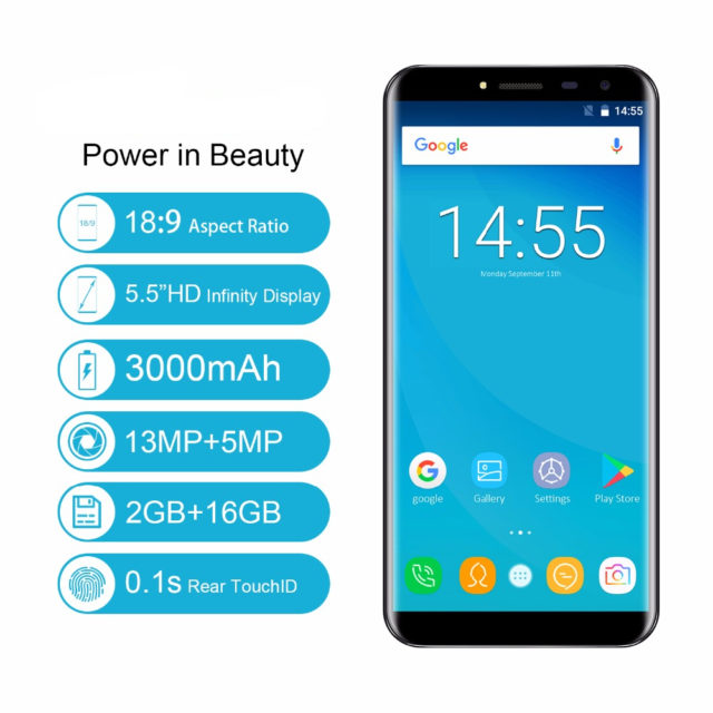 Quad Core Android Infinity Display Fingerprint Mobile Phone