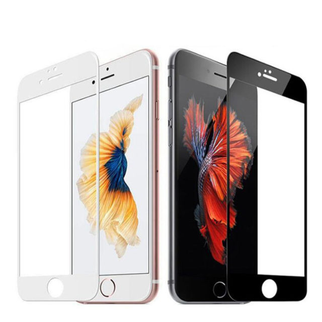 Full Screen White or Black Protection Tempered Glass for iPhone