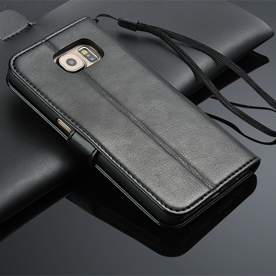Classic Protective Leather Flip Phone Case for Samsung