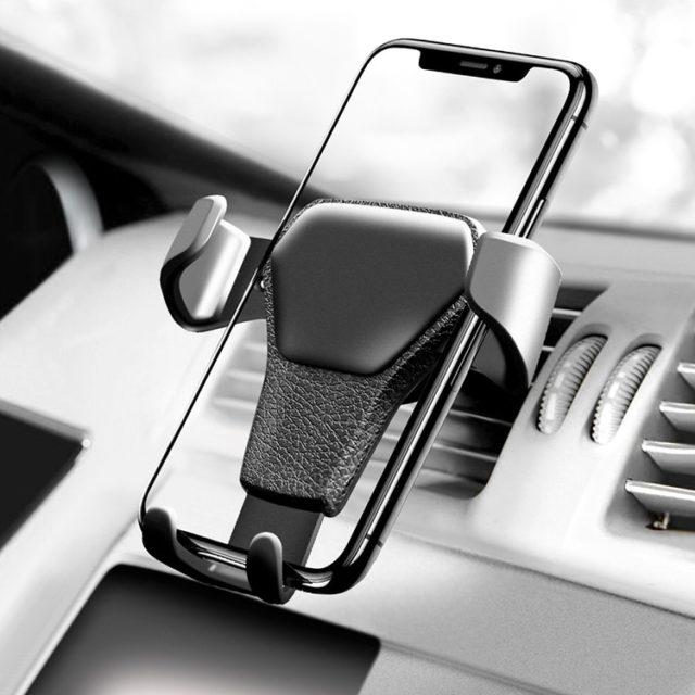 Car Leather Phone Holder