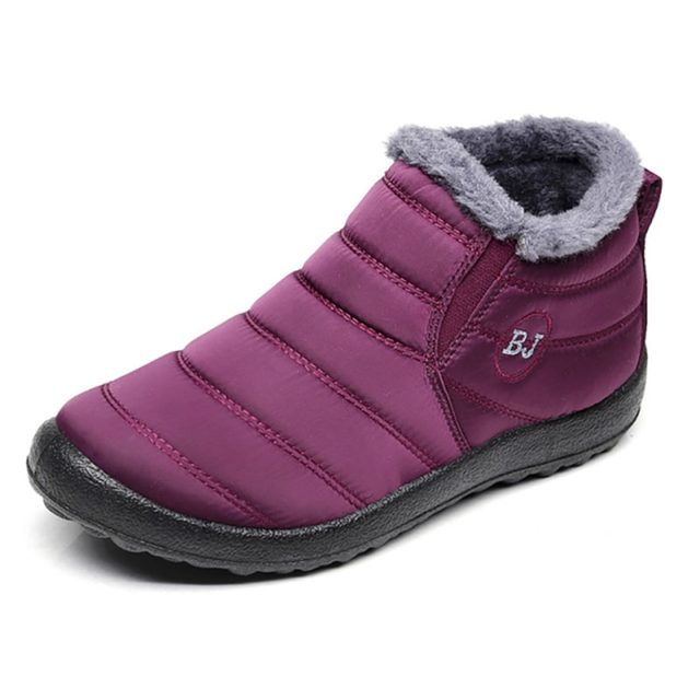 Waterproof Winter Quilted Ankle Boots