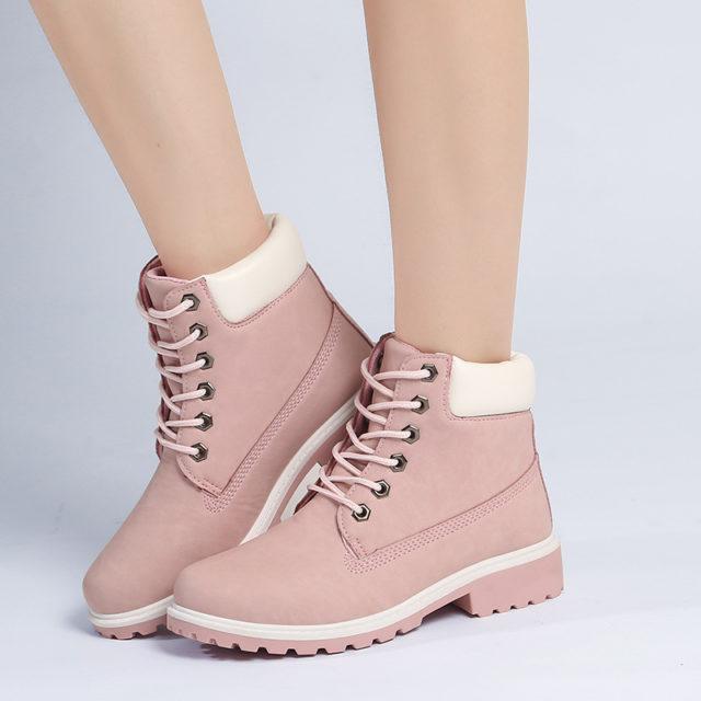 Fashion Demi-Season Casual Leather Women's Boots