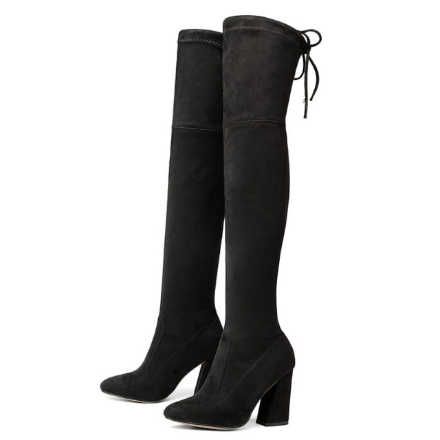 Women's Leather Over The Knee Boots