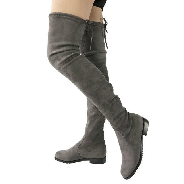 Trendy Winter Suede Women's Knee-High Boots