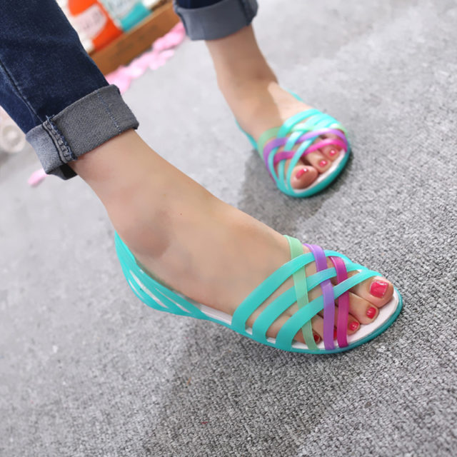 Candy Color Jelly Shoes