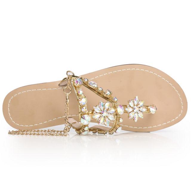 Women's Rhinestones Chain Sandals