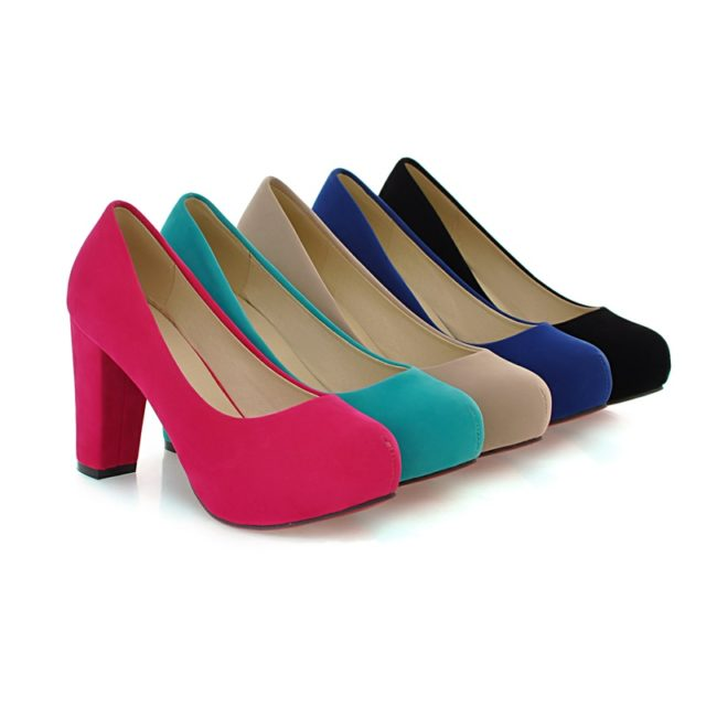 Fashion Classic High-Heeled Suede Women's Shoes