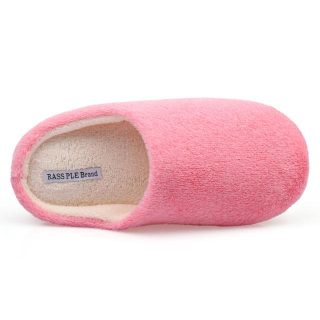 Cute Women`s Soft Plush Cotton Slippers