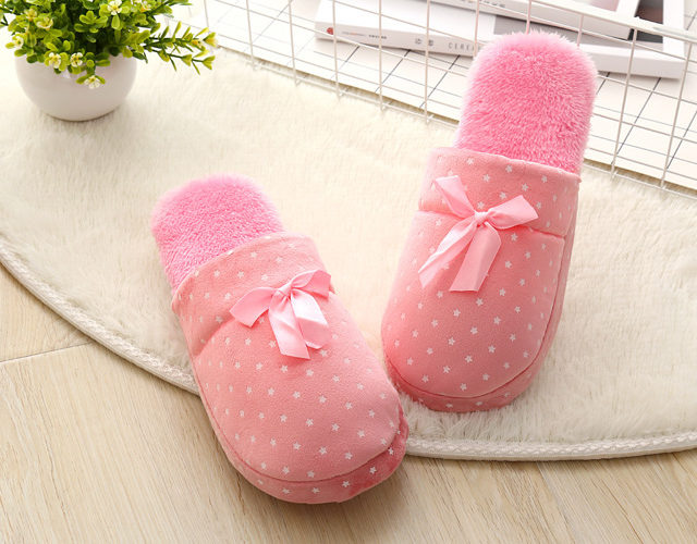 Women`s Candy Color Warm Slippers