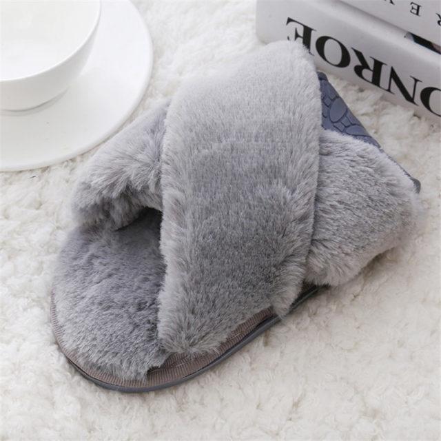 Women's Faux Fur Home Slippers