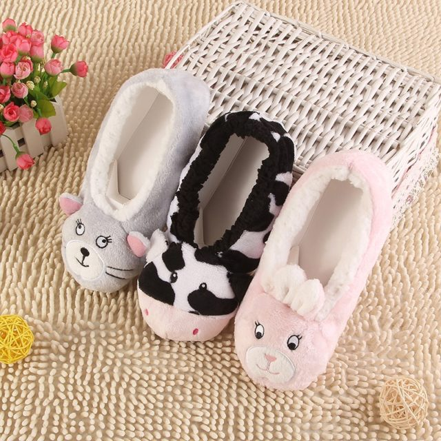 Women's Animal Embroidered Slippers