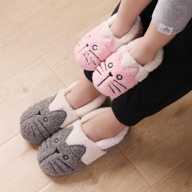 Women's Cute Cat Warm Home Slippers