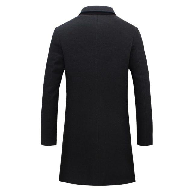 Men's Casual Wool Trench Coat