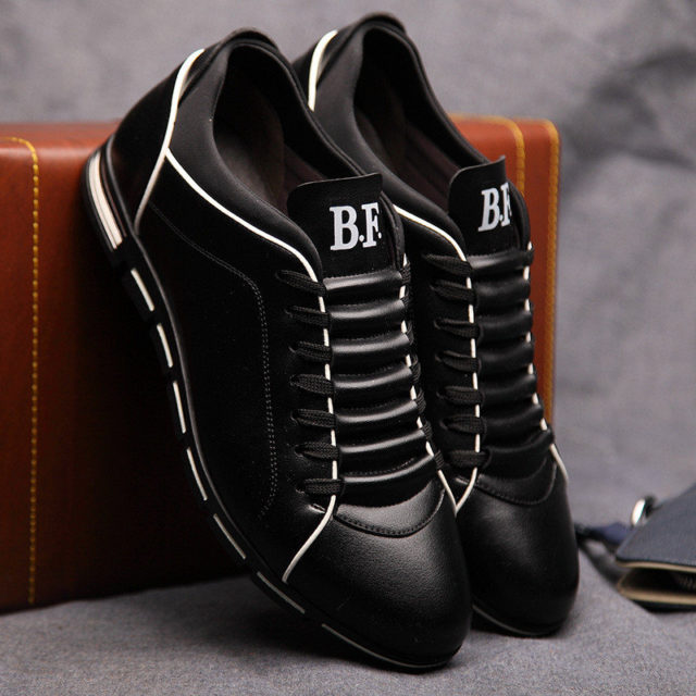 Stylish Comfortable Leather Men's Sneakers