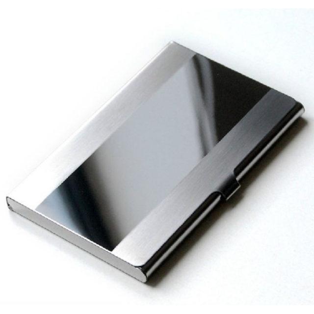 Aluminum Mirror Surface Card Holder