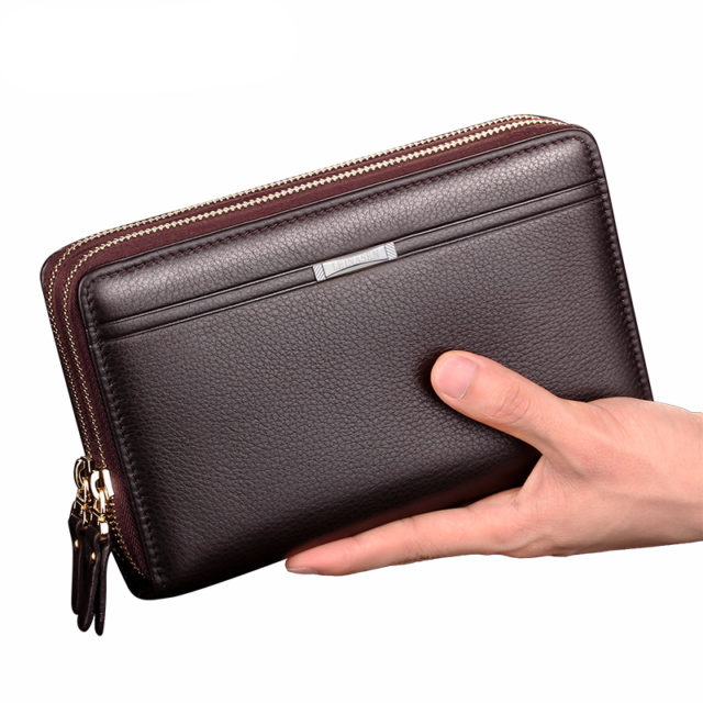 Men's Long Wallets With Coin Pocket