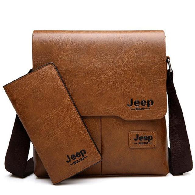Men's Messenger Bag With Wallet