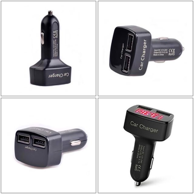 4 in 1 Dual USB Car Chargers