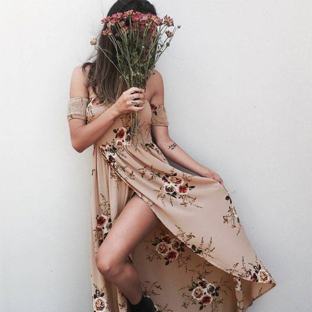 Women's Boho Style Long Dress