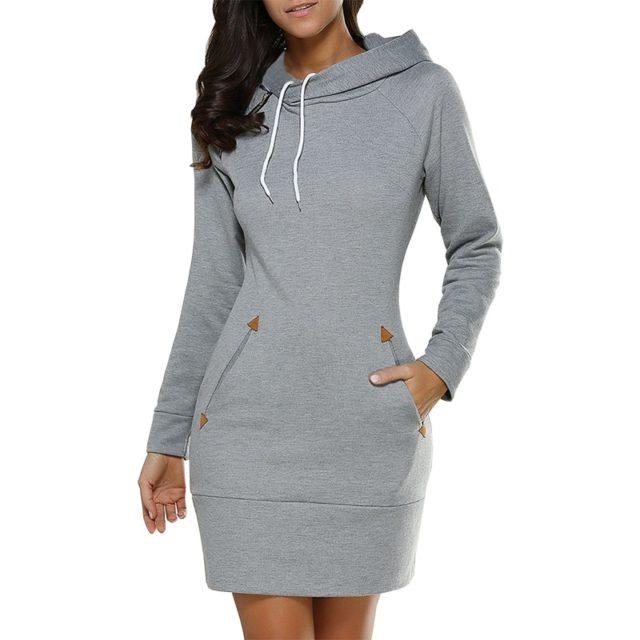 Women's Sports Style Hoodie Dress