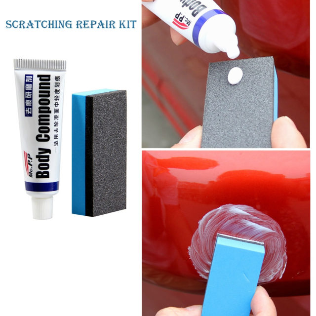 Car Scratch Hiding Polishing Paste with Sponge