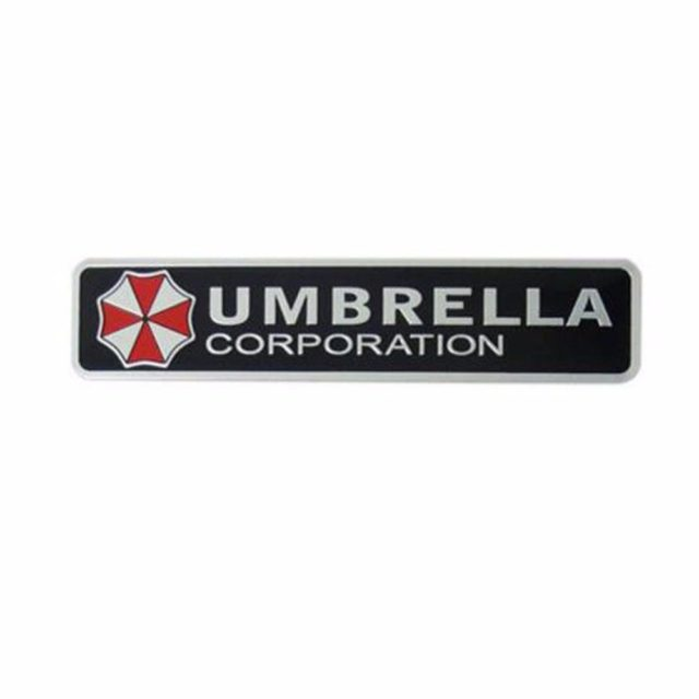 3D Umbrella Corporation Aluminum Alloy Car Sticker