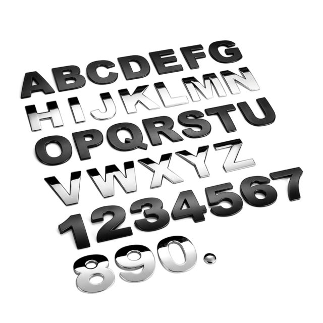 DIY 3D Alphabet ABC Metal Car Stickers